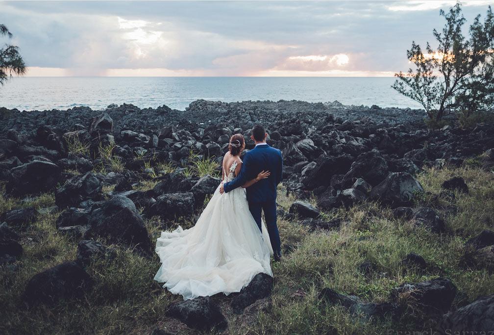 couple et paysage photographe mariage reunion